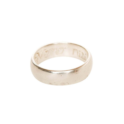 White Gold Engraved Poesy Ring | L. SHOFF