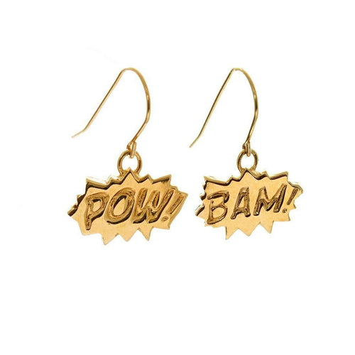 BAM and POW Drop Earrings-Edge Only-JewelStreet US