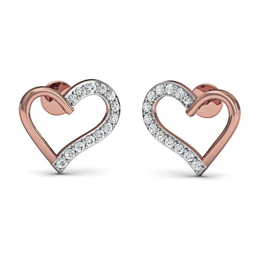 18kt Rose Gold Romance Inspired Designer Diamond Earrings-Diamoire Jewels-JewelStreet US