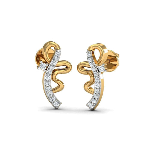 Admirable Designer Diamond Studs in 18kt Yellow Gold-Diamoire Jewels-JewelStreet US