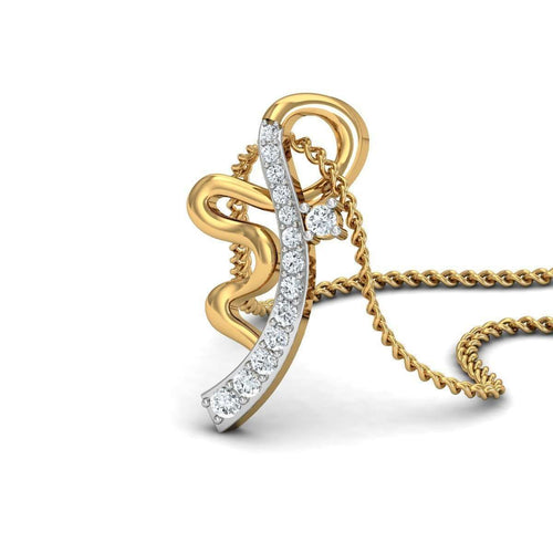 Beauteous Diamond Pendant in 18kt Yellow Gold-Diamoire Jewels-JewelStreet US