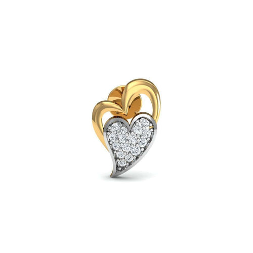 Gusto 18kt Yellow Gold Diamond Stud Earrings