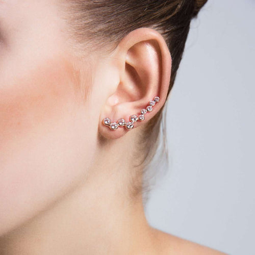 Bubble Ear Cuffs in 18K Rose Gold Plating-Amorium-JewelStreet US