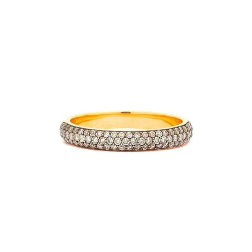 18kt Champagne Diamond Pave Band-Syna-JewelStreet US