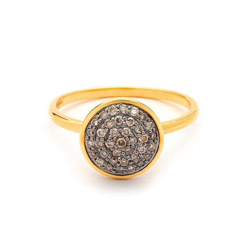 18kt Champagne Diamond Pave Chakra Ring-Syna-JewelStreet US