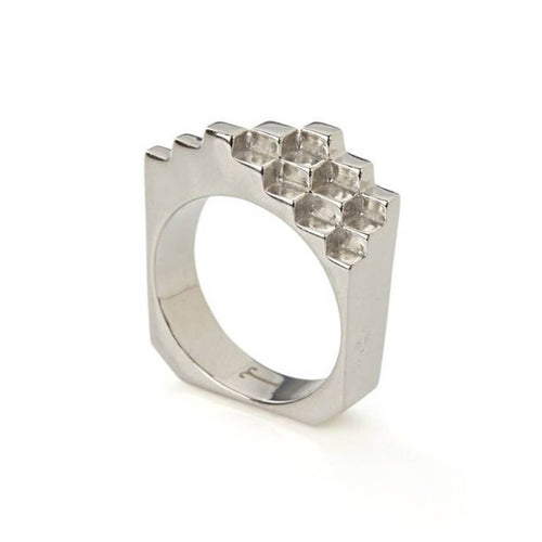 Sterling Silver Hive Ring ,[product vendor],JewelStreet