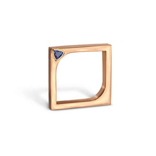 14kt Rose Gold Horus Ring With Blue Sapphire ,[product vendor],JewelStreet