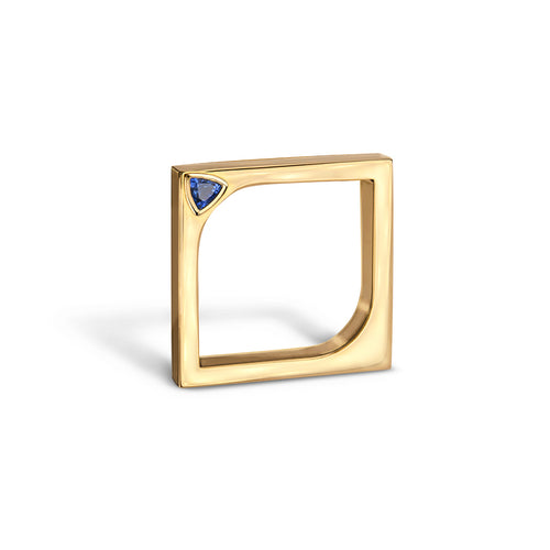 14kt Yellow Gold Horus Ring With Blue Sapphire ,[product vendor],JewelStreet