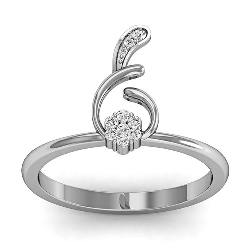 Fish Shaped Diamond Ring in White Gold-Diamoire Jewels-JewelStreet US