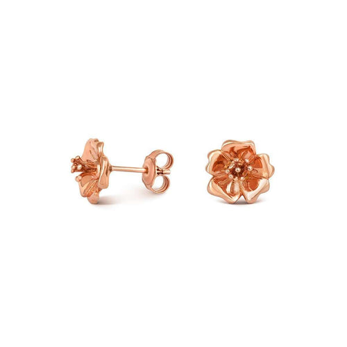 Wild Rose Stud Earrings Rose Gold-Liz Earle Fair and Fine-JewelStreet US