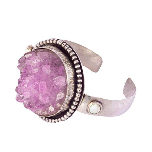 Amethyst Crystal Cuff-Sandra Anne Designs-JewelStreet US