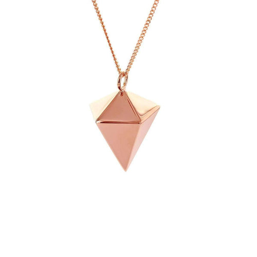 Sterling Silver Pink Gold Plated Decagem Necklace