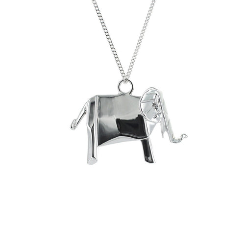 Sterling Silver Elephant Necklace