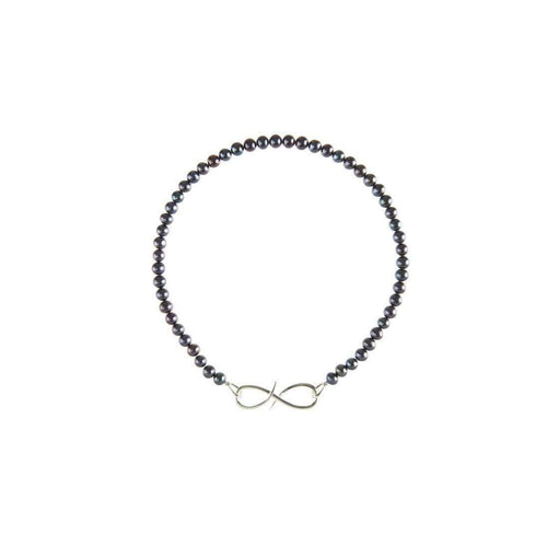 'S' Clasp on Freshwater Pearls - Silver-Sophie Breitmeyer-JewelStreet US