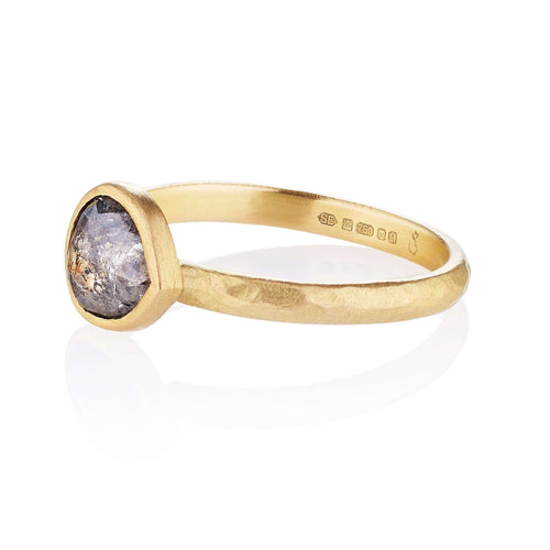 18kt Helena Gold Ethical Engagement Ring-Shakti Ellenwood-JewelStreet US