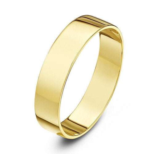 18kt Yellow Gold Flat Wedding Ring ,[product vendor],JewelStreet