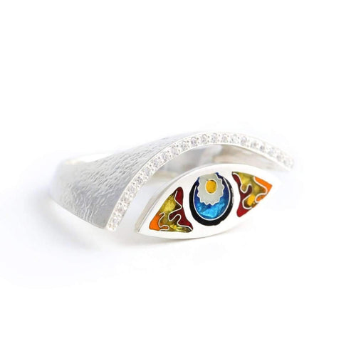 Eye Shape Ring Silver ,[product vendor],JewelStreet