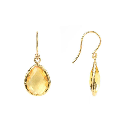 Gold Petite Drop Earring Citrine Hydro ,[product vendor],JewelStreet