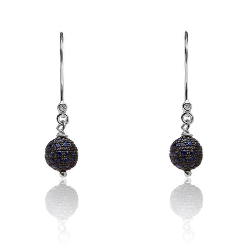White Gold & Sapphire Drop Earrings | Kaizarin ,[product vendor],JewelStreet