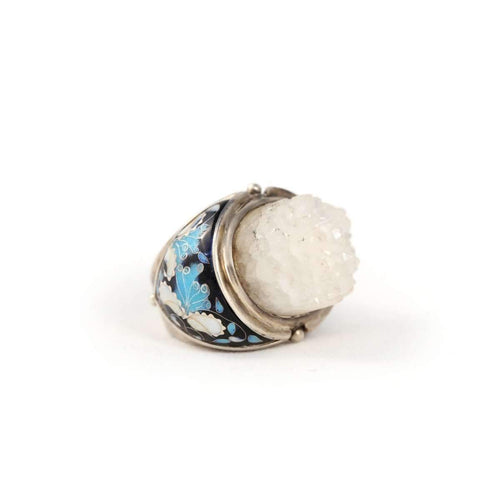 Iceberg Statement Ring with Druzy Crystal ,[product vendor],JewelStreet