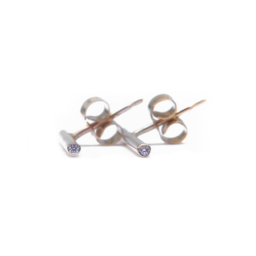 Gold Diamond Reed Earrings ,[product vendor],JewelStreet