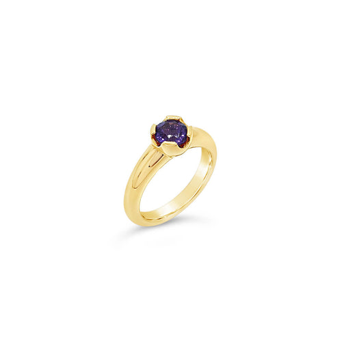 9kt Yellow Gold Violet Ring With Amethyst ,[product vendor],JewelStreet