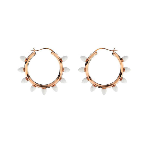 Opal Hoop Earrings ,[product vendor],JewelStreet