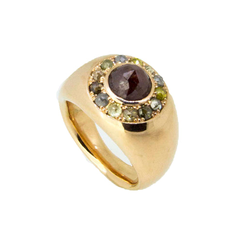 18kt Rose Gold Ring With Rose Diamond ,[product vendor],JewelStreet
