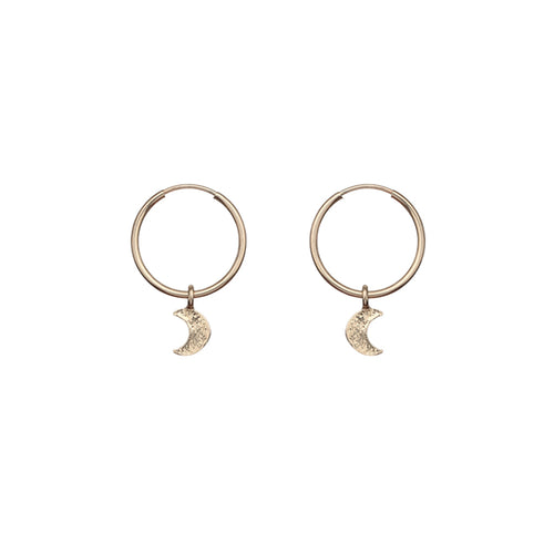 Gold Filled Moon Hoops ,[product vendor],JewelStreet