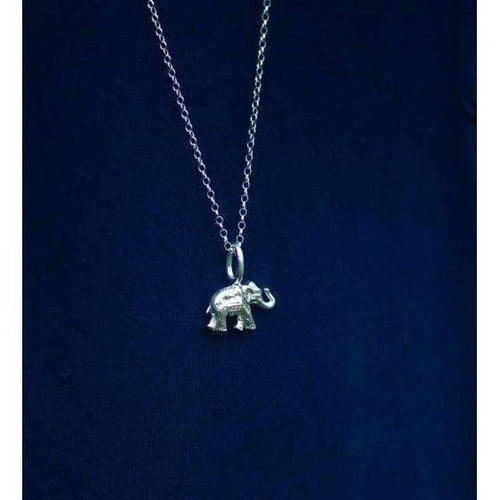 Elephant Silver Charm ,[product vendor],JewelStreet