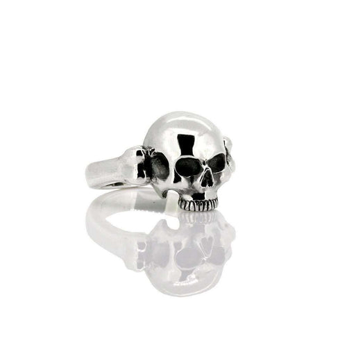 Half Skull Ring, Small-deVos Jewellery-JewelStreet US