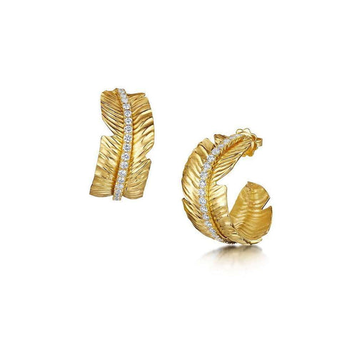 Gold Tiki Diamond Earrings - 1.54ct-ROX - Diamonds and Thrills-JewelStreet US