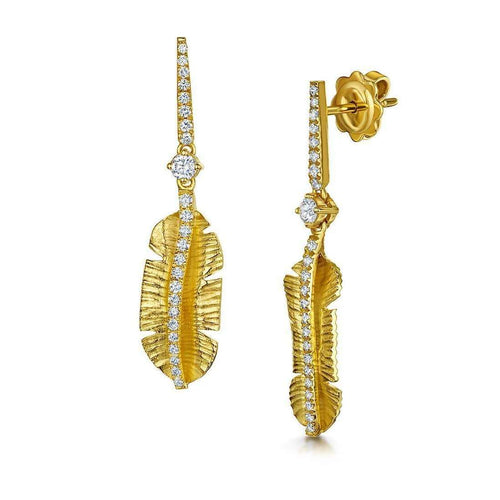 Gold Tiki Diamond Earrings - 0.48ct-ROX - Diamonds and Thrills-JewelStreet US