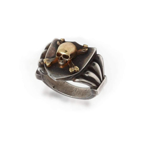 Skull And Crossbones Signet Ring ,[product vendor],JewelStreet