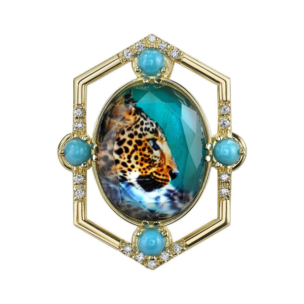 Leopard Pendant and Brooch-Spencer Fine Jewelry-JewelStreet US