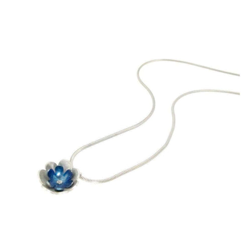 Forget-me-not double Flower Pendant-Sian Bostwick Jewellery-JewelStreet US