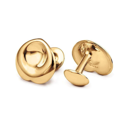 18kt Yellow Gold Confetti Cufflinks-September Rose-JewelStreet US