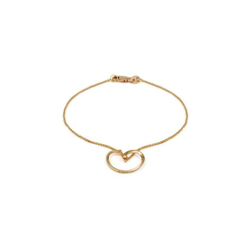 18kt Yellow Gold Bella Bracelet-September Rose-JewelStreet US