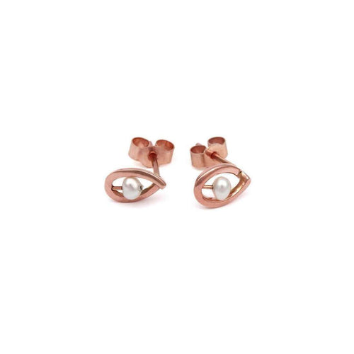 9kt Rose Gold Maia Earrings Up-September Rose-JewelStreet US