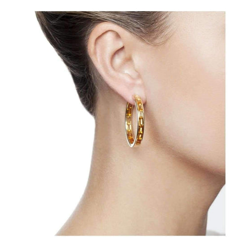 Golden Hoop Earrings-Earrings-Daou Jewellery-JewelStreet