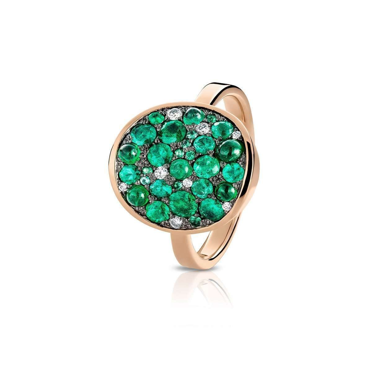 Starstruck Ring Set With Emeralds And Diamonds