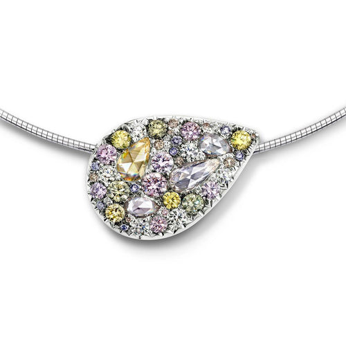 Starstruck Pendant - Mixed Colour Diamonds ,[product vendor],JewelStreet