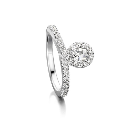 18kt White Gold EyeOnYou Ring With Diamonds ,[product vendor],JewelStreet
