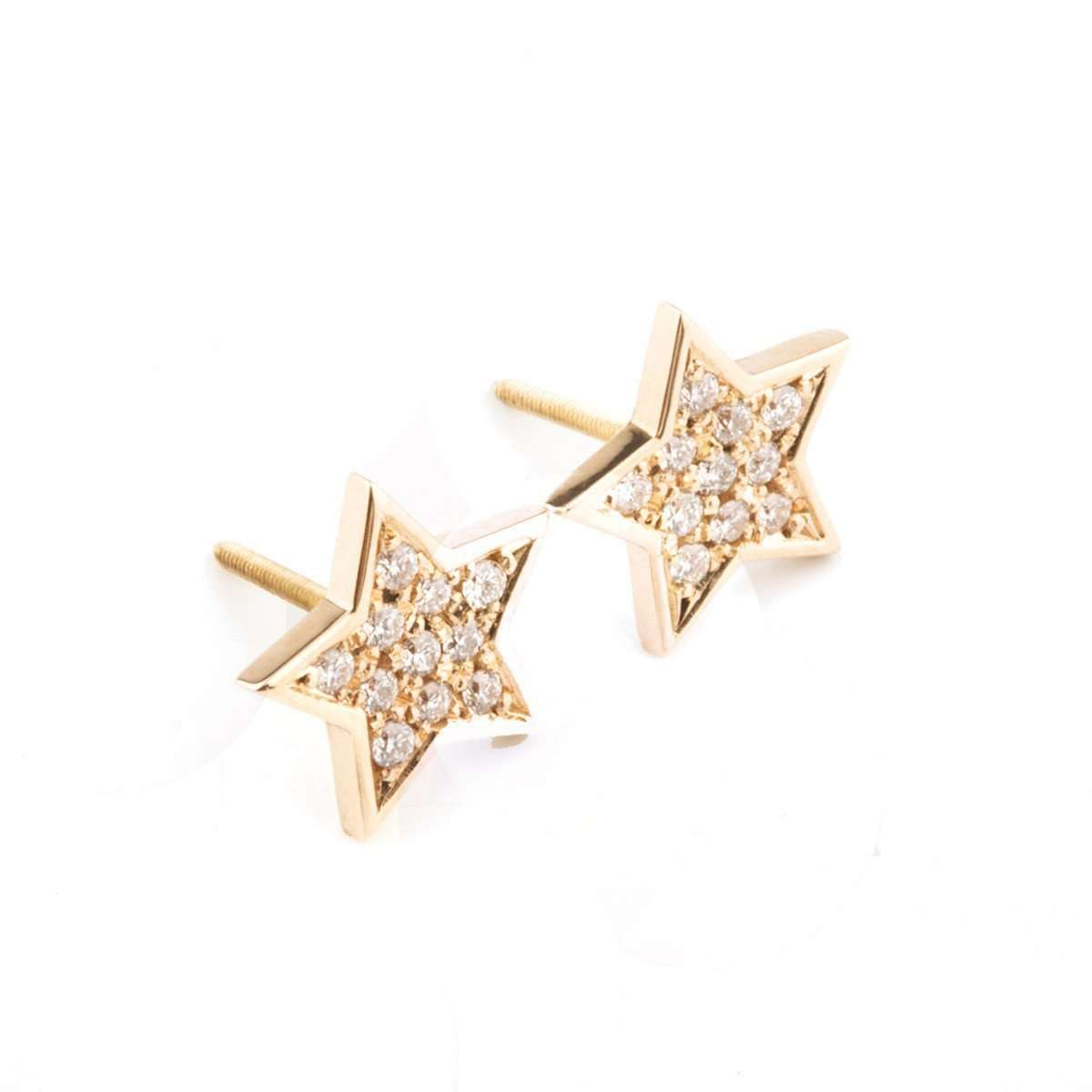 Star Diamond Earrings-Oh my Christine Jewelry-JewelStreet US
