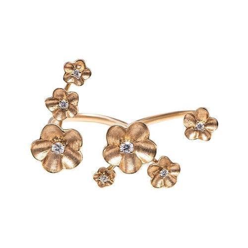 Goden Fleurs Ring-Stefere Limited-JewelStreet US