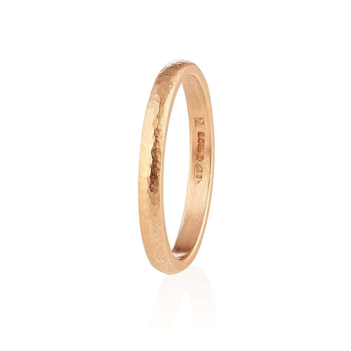 18kt Fairtrade Sunna Wedding Band-Shakti Ellenwood-JewelStreet US