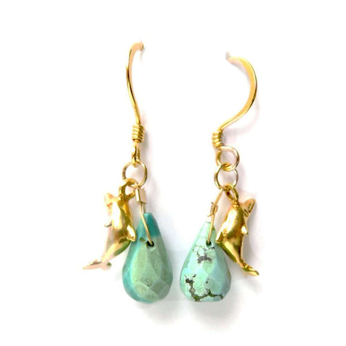 Swim With Dolphins Earrings-Radha-JewelStreet US