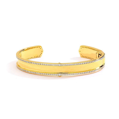 18kt Gold Bracelet With Diamonds-Syna-JewelStreet US