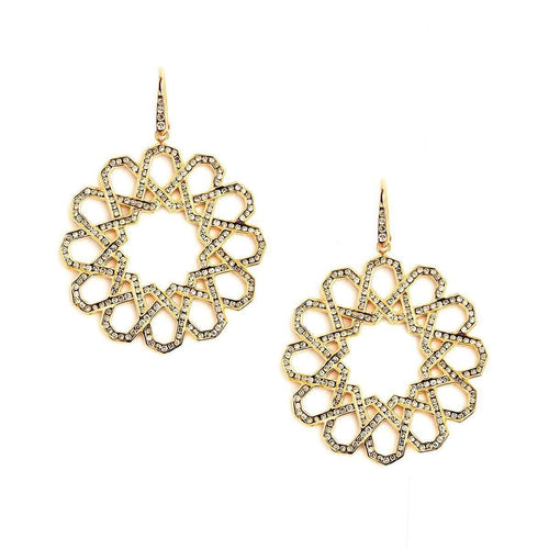 18kt Earrings With Champagne Diamonds-Syna-JewelStreet US