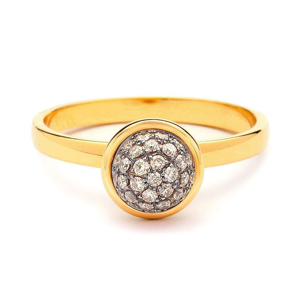18kt Small Champagne Diamond Bauble Ring-Syna-JewelStreet US